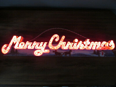 vintage lighted merry christmas hanging sign 24 illuminated