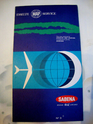 Sabena Gelgium Airline Map Route