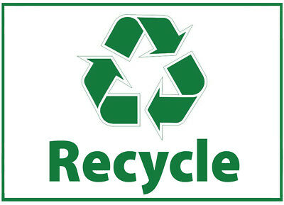 Recycle Only Waste Bin Self Adhesive Printed Sticker with Recycle Logo Sign