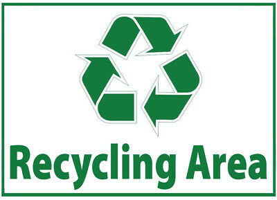 Recycling Area Waste Bin Self Adhesive Printed Sticker with Recycle Logo Sign