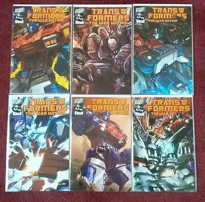 Transformers War Within comic lot. 1-6, #5 variant! NM