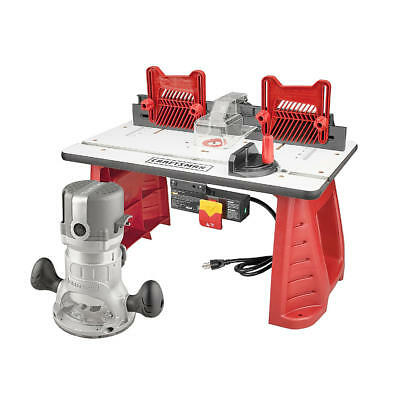 Craftsman 9 12 amp 1 34 hp router and router table combo 12999 craftsman 95 amp 1 34 hp router and table combo set wood cut greentooth Images