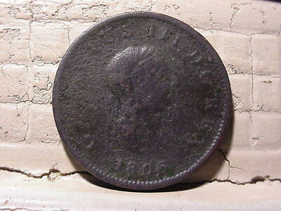 1806 Great Britain King George III Copper Halfpenny