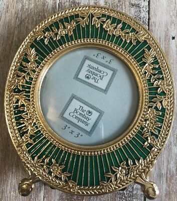Stunning Vintage Looking Emerald Green And Gold Bombay Company Picture Frame