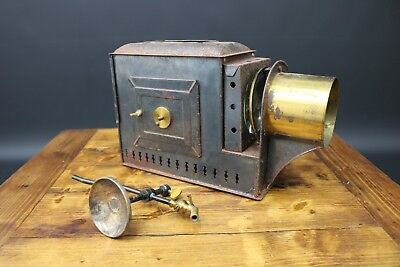 Antique Magic Lantern Projector Victorian Gas Powered for Restoration