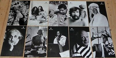 "Set of 10 APPLE POSTERS THINK DIFFERENT  17x11"" Einstein, Lennon, RARE"