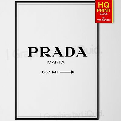 PRADA MARFA Art PRINT PHOTO PICTURE Poster FASHION DESIGNER GIFT A5 A4 A3 A2 A1