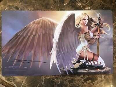 Special Edition Signed Doug Shuler new version Serra Angel Play Mat