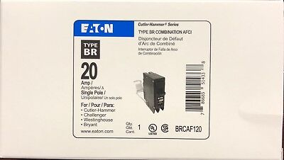Cutler Hammer Eaton Brcaf120 Combination Arc-Fault Breaker 20A New In Box