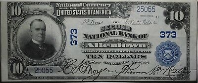1902 $10 Dollar National Bank Note Currency