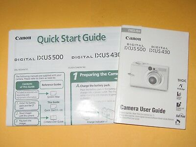 Canon Ixus Elph Camera Instructionshandbookguide Book 250