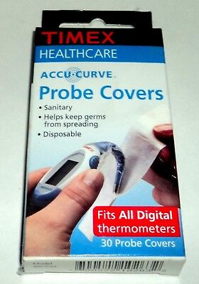 TIMEX Healthcare Accu*Curve Probe Covers Fit All Digital Thermometers 30 ct. NIP