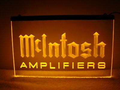 McIntosh Amplifiers LED Sign Amber