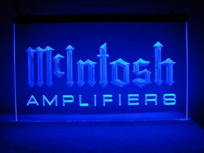 McIntosh Amplifiers LED Sign Blue