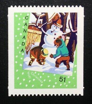 Canada #2184i Die Cut MNH, Christmas Cards - Snowman Stamp 2006