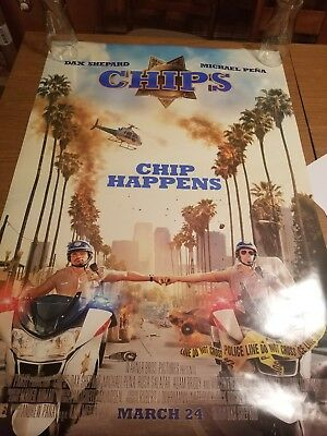 CHIPS ORIGINAL 27x40 MOVIE POSTER (2017) SHEPARD & PENA