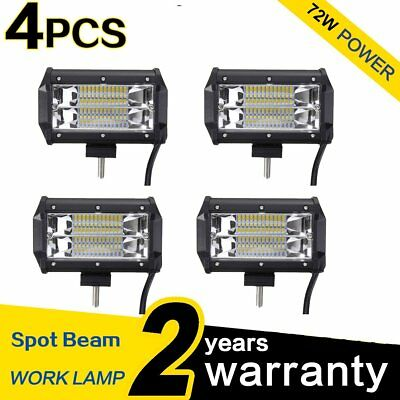 4X 72W SPOT LED Off road Work Light Lamp 12V car boat Truck Driving ATV 4WD SUV