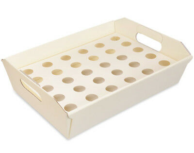 31cm Ivory Gift Hamper with Inner Trays for Confetti Cones