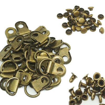 (Pack of 50 Set)Metal Rivet D Ring Lace Eye Boot DIY Repair Kit