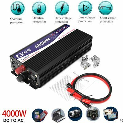 Solar Power Inverter 1000-8000W 12V to 110/220 Modified Pure Sine Wave Converter