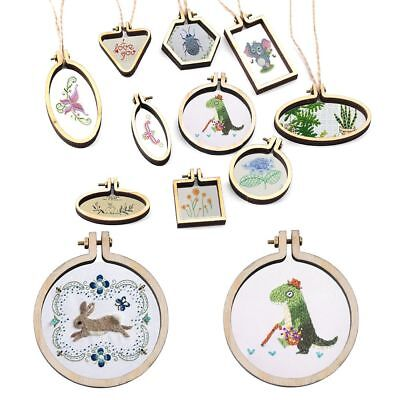 Mini Wooden Hoop/Ring Embroidery Frame Cross Stitch Sewing DIY Crafts Tool AU
