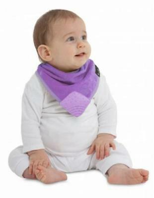 Super Absorbent Baby Bandana WONDER BIB WITH SILICONE TEETHER *Purple*