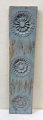 Antique Floral Carved Wall Hanging Wooden Window Panel Vintage Home decor panel