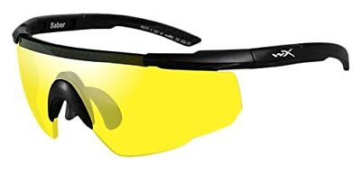 (TG. taglia unica) nero Wiley X Saber Advanced Smoke Grey/Yellow Matte Black Fra