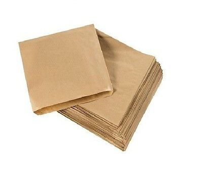 "100 x High Quality  10"" x 10"" Brown Kraft Paper Bags Fruits Sweets Packing Gifts"