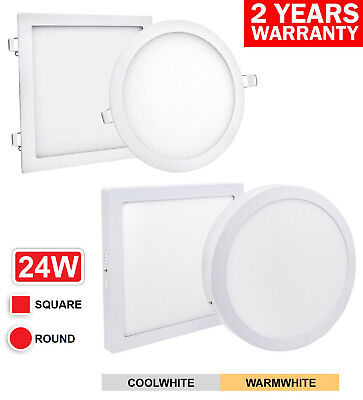 24W LED Recessed Surface Mount Ceiling Panel Light 300 x 300 ROUND or SQUARE