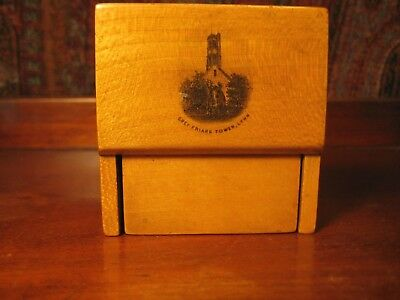 Antique Victorian Mauchline Ware Pocket Watch Stand C 1890