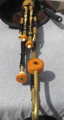 Uilleann pipes made by Tadhg Crowley of Cork 1930s