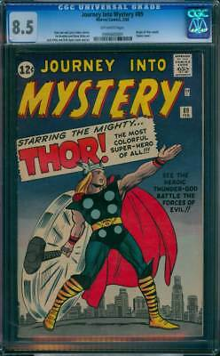 Journey into Mystery # 89  Classic Thor Hammer Cover !  CGC 8.5  scarce book !