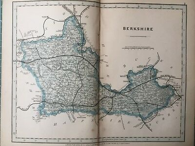 1875 Antique Map;  Cary / Cruchley map of Berkshire. Original outline colour