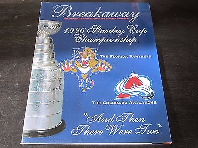 Florida Panthers Stanley Cup Program 6/8/96 vs Colorado Avalanche Game 3