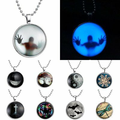 Steampunk Fire Animal People Glow in the Dark Luminous Pendant Necklace Chain
