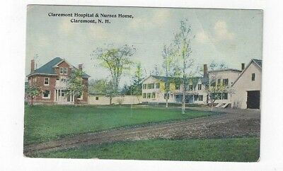 NH Claremont New Hampshire antique post card Hospital & Nurses Home