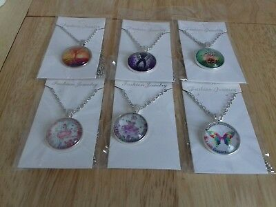 Joblot 6 New Items Of Fashion Jewellery Necklaces Free Postage