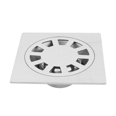 Home Toilet Stainless Steel Floor Drain Cover Strainer Hair Stopper Silver Tone