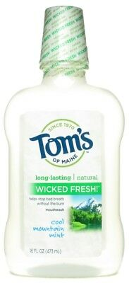 TOM'S OF MAINE - Cool Mountain Mint Wicked Fresh Mouthwash - 16 fl. oz. (473 ml)
