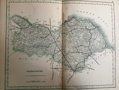 1875 Antique Map;  Cary / Cruchley map of North Riding of Yorkshire.