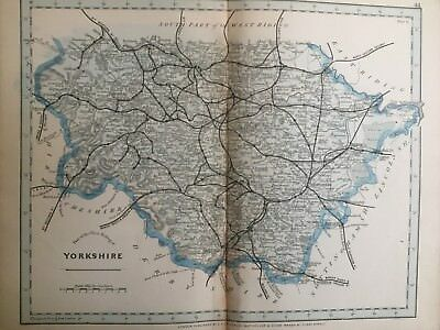 1875 Antique Map;  Cary / Cruchley map of West Riding of Yorkshire.