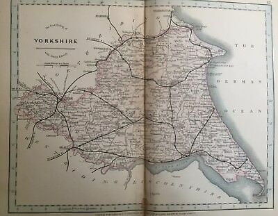 1875 Antique Map;  Cary / Cruchley map of East Riding of Yorkshire.