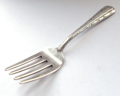 Antique 925 Solid Stirling Silver Small Pickle Fork Cutlery 1950s Retro Vintage