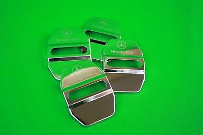 Stainless Steel Car Door Lock Ring Protective Cover For Mercedes Benz 4pcs  *NU7