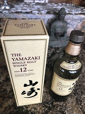 Yamazaki 12 Year Japanese Single Malt Whisky Scotch 750ml Empty bottle/box only