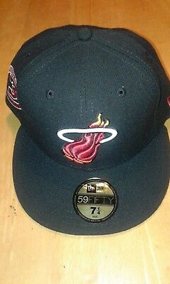 46f26ca2468 New Era Miami Heat Custom Strapback Hat Jordan Retro 8 VIII Aqua Black  snapback