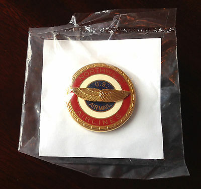 Genuine Northwest Airlines Pilot Uniform Hat Badge - NEW, never used NWA Crew