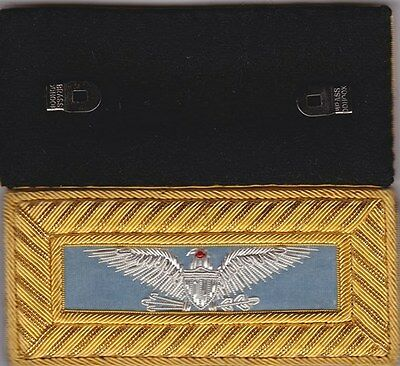 Civil War Infantry Colonel Shoulder Boards Extra Rich Sky Blue w/Free $20 Coin