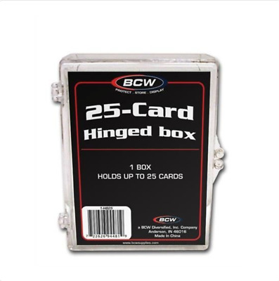 (3) BCW 25 Count Hinged Plastic Storage Box Great for Sports Cards Trading Cards